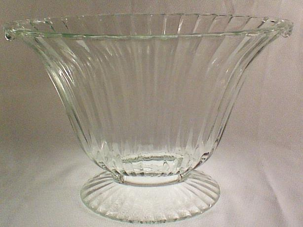 Pressed glass footed fan vase