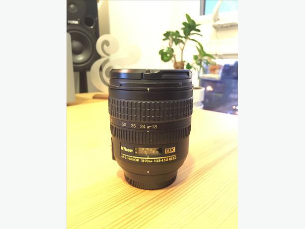 Nikon 18-70mm Lens: AF-S DX  f/3.5-4.5G IF-ED
