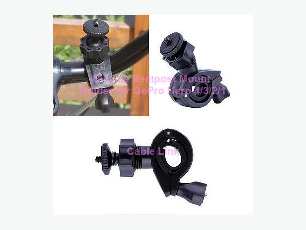 Bicycle Handlebar Roll Bar Seatpost Mount Holder For GoPro Hero