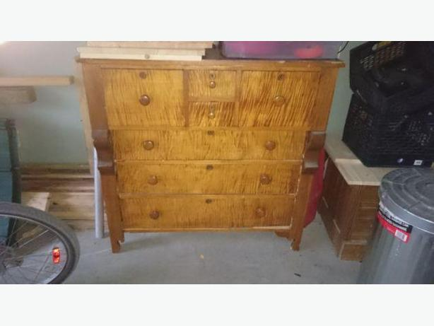 Flaming Maple Bonnet Chest
