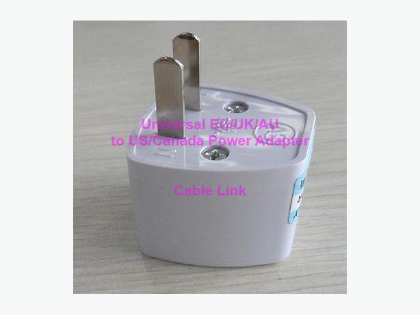 Universal EU/UK/AU to US/Canada Power Plug Adapter