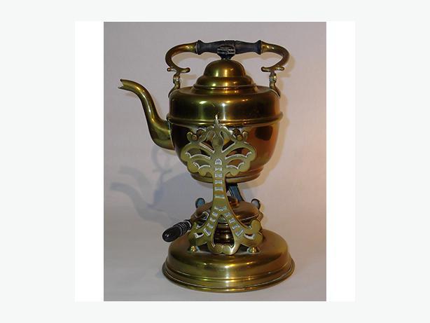 Vintage Brass Teakettle, Stand & Burner