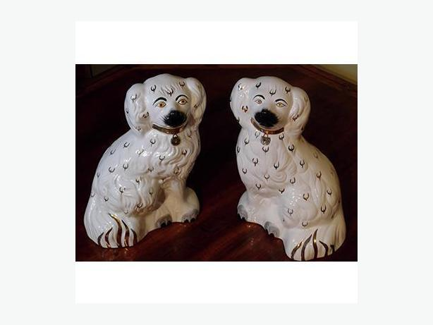 Pair of Vintage Staffordshire Spaniels
