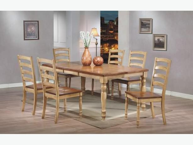 New Solid Hardwood Extendable Table 6 Chairs