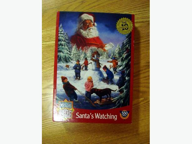 Like New Santa's Watching 550 Piece Puzzle - Excellent Condition! $12