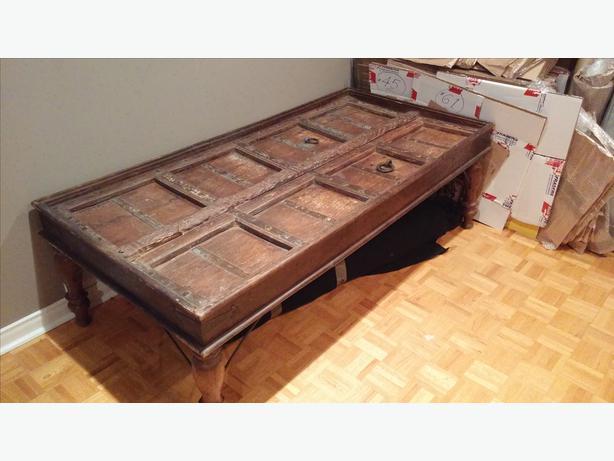 Antique Indian Door Coffee Table Gloucester Ottawa