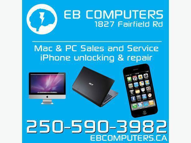 EB Computers - Mac PC & iPhone Repair! Lots of USED INVENTORY w/ Warranty!