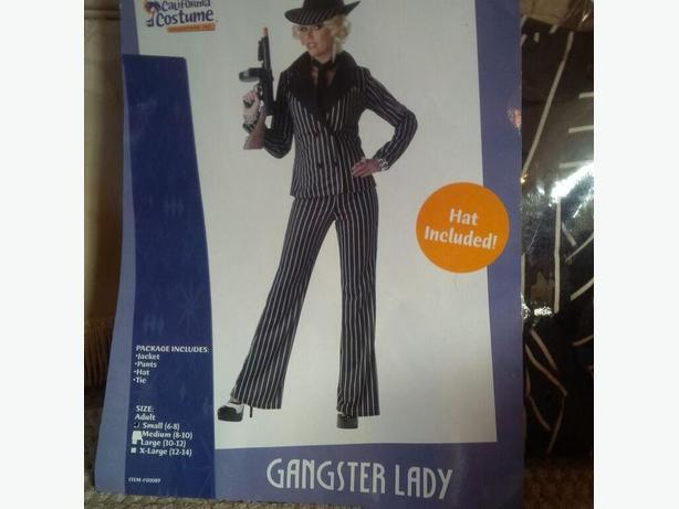 Gangster Lady Costume w/Accessories