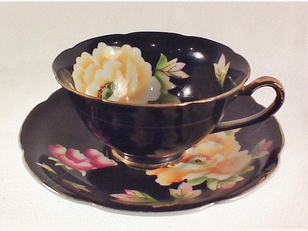 Chugai China handpainted teacup & saucer