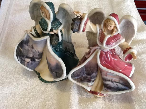 Collectible Thomas Kinkade's Winter Angels of Light: Peace and Hope
