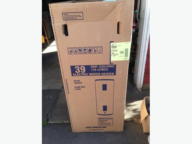 rheem water heater 40 gallon. electric water heater brand new!!! 40 gallon. rheem pro +e40 m2 gallon