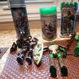 Collection of 5 Action figures with accessories