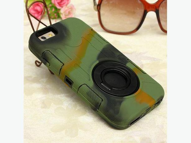 Camouflage Ring Hybrid Armor Stand Case IPhone 6 6S 6 Plus 6S Plus