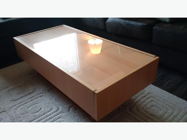 Ikea RAMVIK Coffee Table   Glass Top And Storage