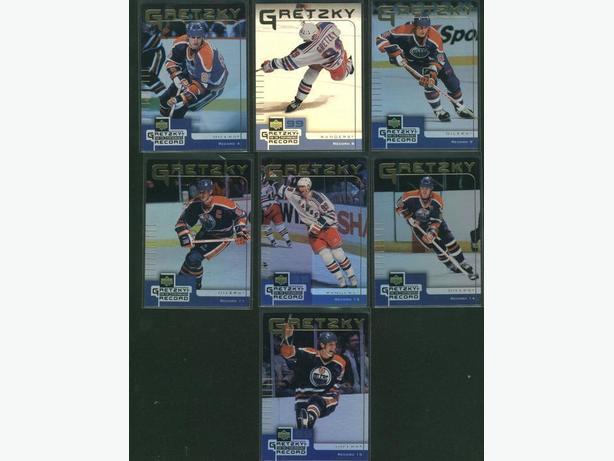 Seven 99/2000 Upper Deck McDonald's Gretzky Record Cards Oilers Rangers