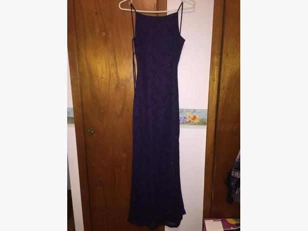 size small purple dress
