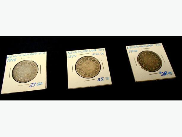 1898-1899-1900 NEWFOUNDLAND 50 CENT PIECES