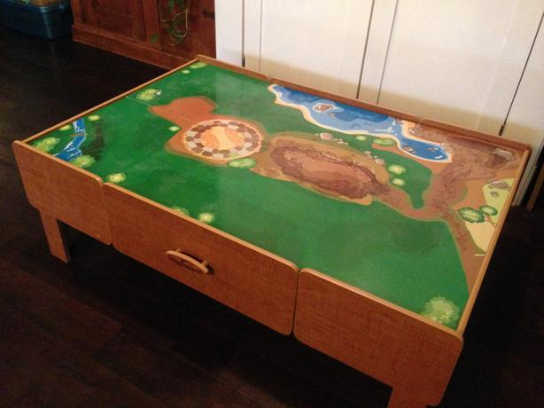 Imaginarium train/Lego table in great condition Central Saanich ...