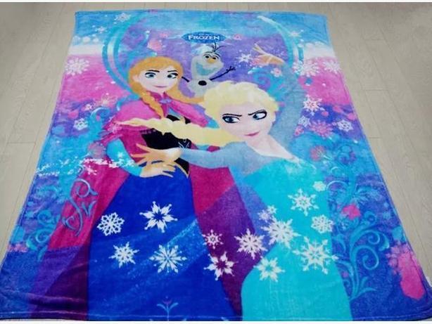 3 New Frozen Elsa Anna Olaf King Size Fleece Blanket - $38 each