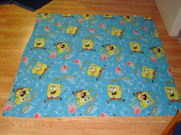 Like New Spongebob Fleece Blanket - Twin size - $8