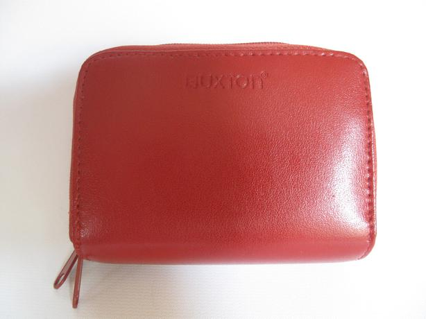 BUXTON Women's Red Leather Credit Card ID Wizard Wallet - NEW