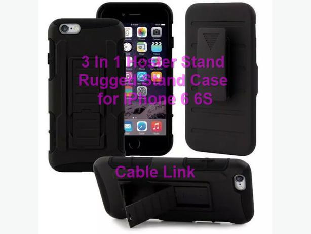 3 In 1 Holster Rugged Armor Hybrid Stand Case Set for IPhone 6 6S