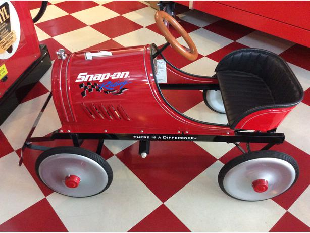 Rare SnapOn Speed Racer Pedal Car- New