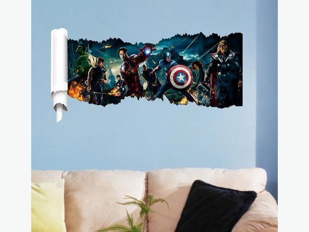 3 Brand New Large Avengers Removable Wall Stickers - $17 each