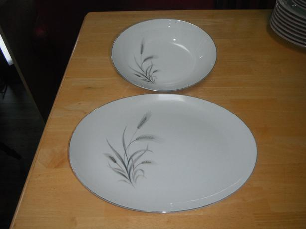 Liberty china from Japan serving platter & pasta bowl set