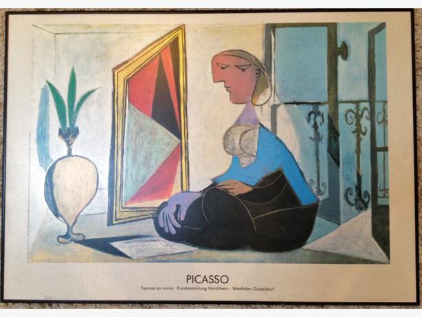 Large Picasso print: Femme au Miroir
