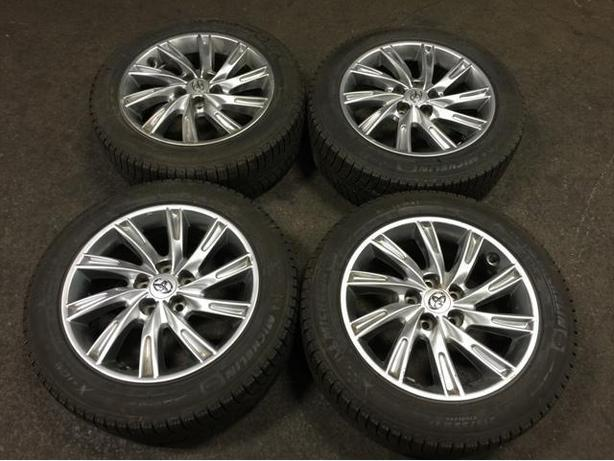 TOYOTA OEM MAGS 17INCH WITH 215/55R17 MICHELIN WINTER TIRE 2012+