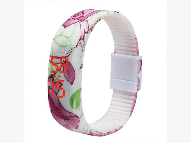 Rubber LED Bracelet Digital Wrist Watch