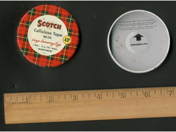 Vintage Scotch Tape Tin 1950s