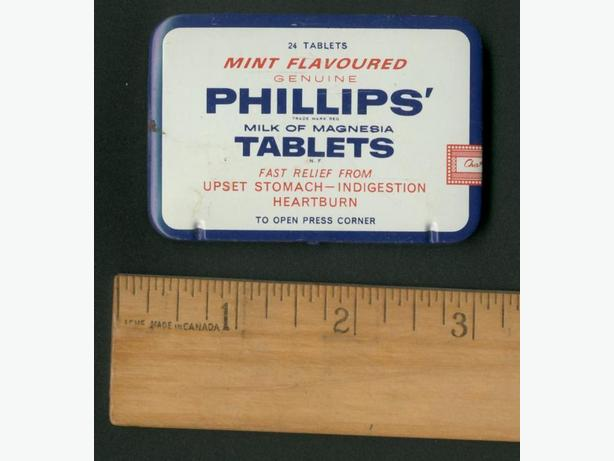Vintage Philips Milk Of Magnesia Tin 1950s