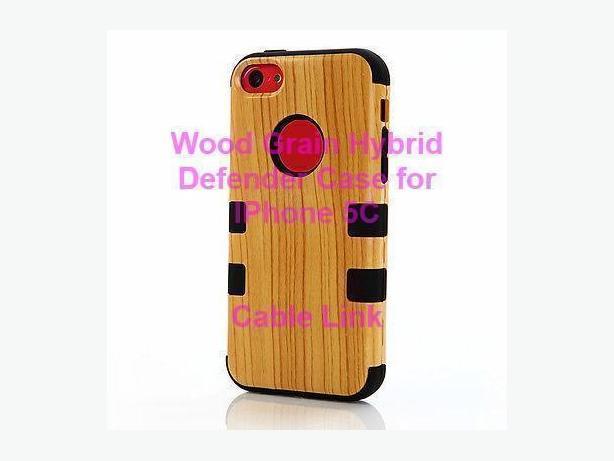 Unique Design Wood Grain Hybrid Defender Case for IPhone 5 5S 5C