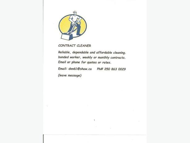 Contract cleaner for hire