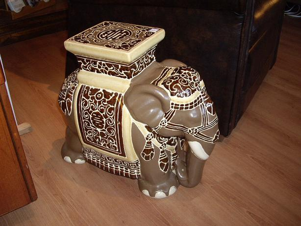 log plant stand ceramic brown elephant plant stand or small end table chemainus