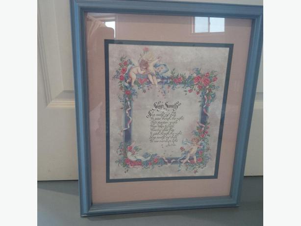 "Poem frame ""SLEEP SWEETLY"" by Ken Brown"