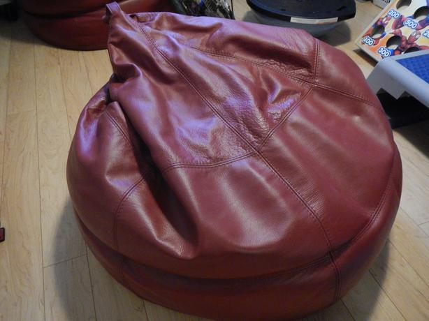 Red Leather Bean Bag Chair