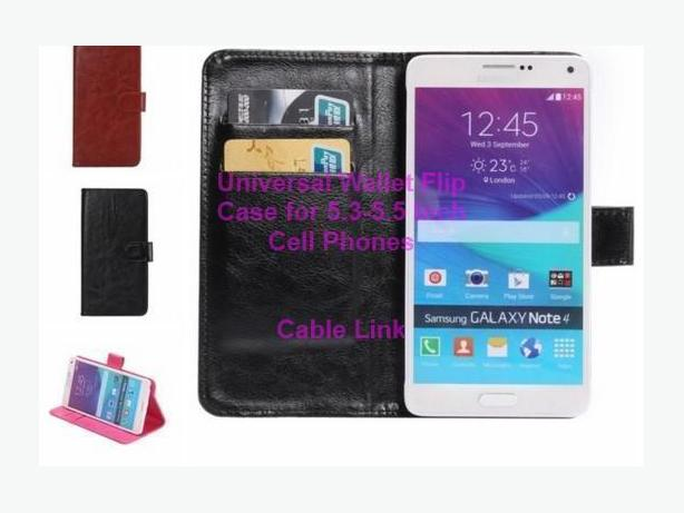 Universal 360 Rotation Wallet Flip Case for 5.3/5.5 cell phones