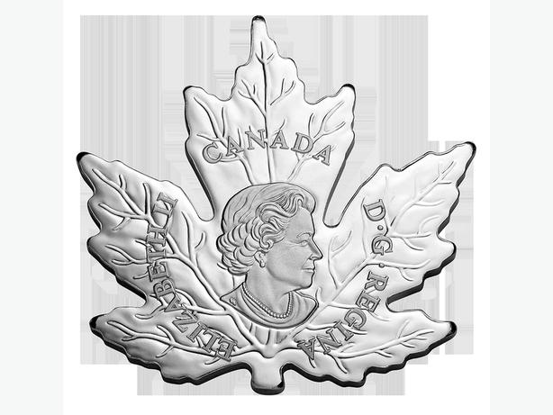 1 oz Fine Silver The Canadian Maple Leaf Shape Coin