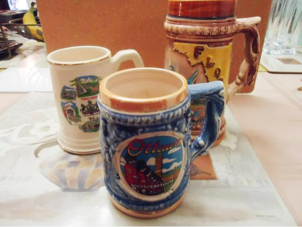 Beer Stein & Collector City / State Mugs (4 Pieces)