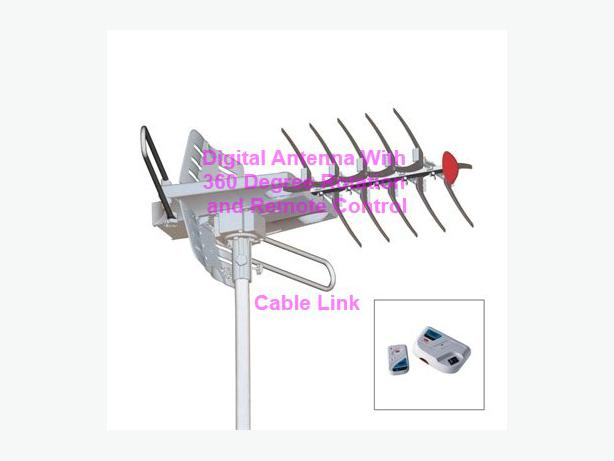 Remote Controlled 360 Degree Rotable HDTV Outdoor Digital Antenna