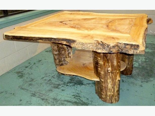 Reg 2 599 Live Edge Coffee Table With Log Leg Central