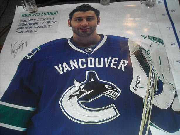 """GIANT 6ft. 3"""" SIGNED ROBERTO LUONGO POSTER"""