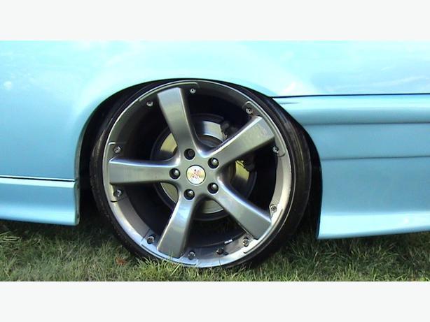 19x8.5 et 45 5x120 mille miglia evo 5 spoke wheels on bfg tires