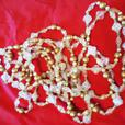 "180"" Long Crystal Borealis Gold Bead Garland from Bombay Company NEW"