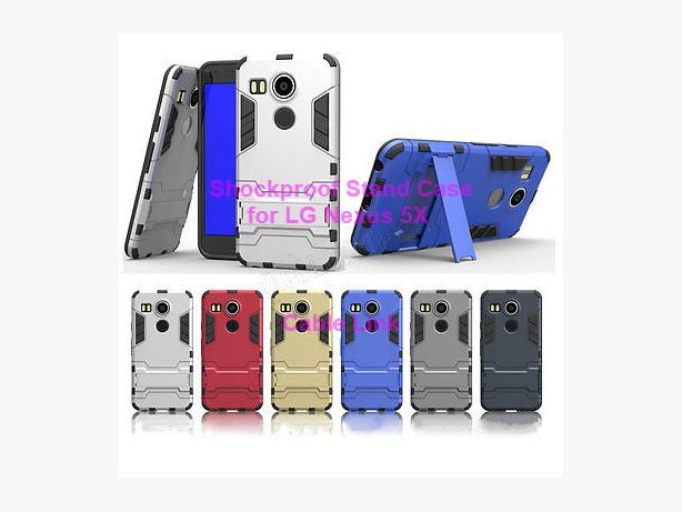 Shockproof Armor Kickstand Case for LG Google Nexus 5X
