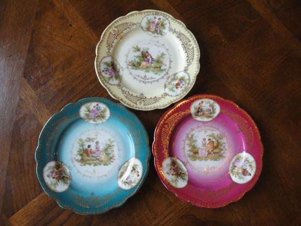 3 PC Set Of Collection Plates From Imperial Crown, Austria
