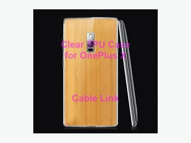 Clear Soft TPU Back Skin Case Cover for Oneplus X
